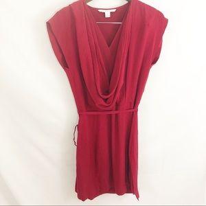 Diane von Furstenberg Red wrap dress cocktail 8